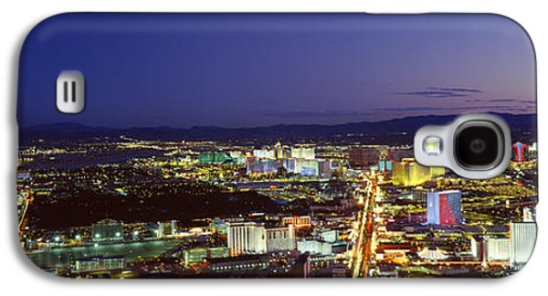 The Strip Galaxy S4 Cases - Cityscape At Night, The Strip, Las Galaxy S4 Case by Panoramic Images