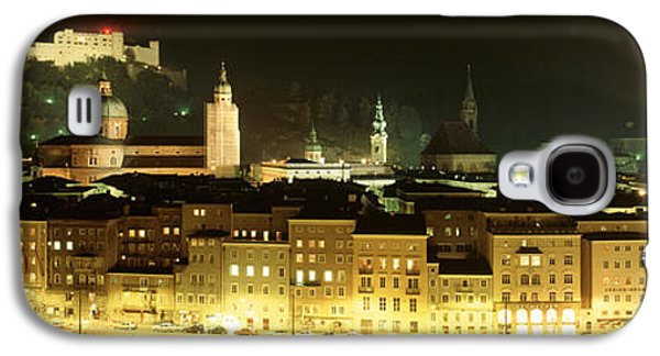 Salzburg Galaxy S4 Cases - Cityscape Night Salzburg, Austria Galaxy S4 Case by Panoramic Images