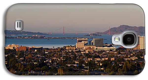 Alcatraz Photographs Galaxy S4 Cases - Cityscape With Golden Gate Bridge Galaxy S4 Case by Panoramic Images