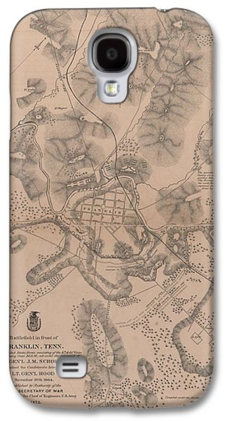 Franklin Drawings Galaxy S4 Cases - Civil War Battlefield in front of Franklin Tennessee Galaxy S4 Case by Cody Cookston