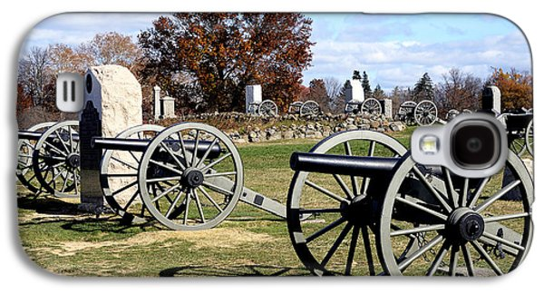 Civil War Site Galaxy S4 Cases - Civil War Cannons at Gettysburg National Battlefield Galaxy S4 Case by Brendan Reals