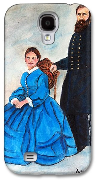 1865 Mixed Media Galaxy S4 Cases - Civil War General and His Wife Galaxy S4 Case by Lois Charles