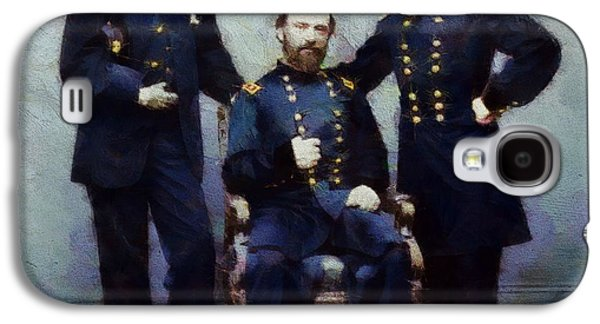 Slavery Paintings Galaxy S4 Cases - Civil War In Color Union Soldiers Galaxy S4 Case by Dan Sproul