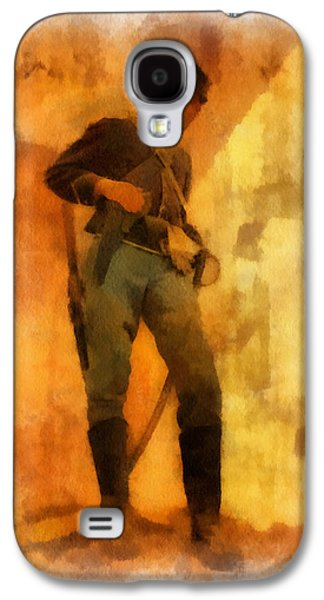 Historical Re-enactments Galaxy S4 Cases - Civil War Soldier Photo Art Galaxy S4 Case by Thomas Woolworth