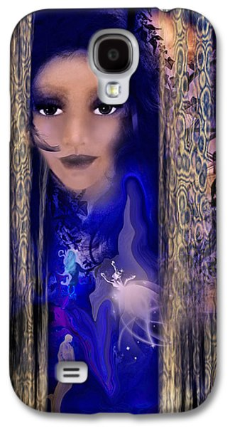 Abstract Digital Mixed Media Galaxy S4 Cases - Clairvoyant Seven Galaxy S4 Case by Patricia Motley