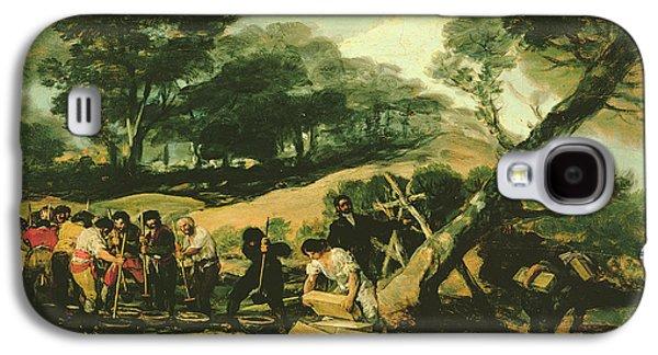 Poudre Galaxy S4 Cases - Clandestine Manufacture Of Gunpowder, 1812-13 Oil On Canvas Galaxy S4 Case by Francisco Jose de Goya y Lucientes