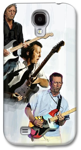 Music Drawings Galaxy S4 Cases - Clapton Eric Clapton Galaxy S4 Case by Iconic Images Art Gallery David Pucciarelli