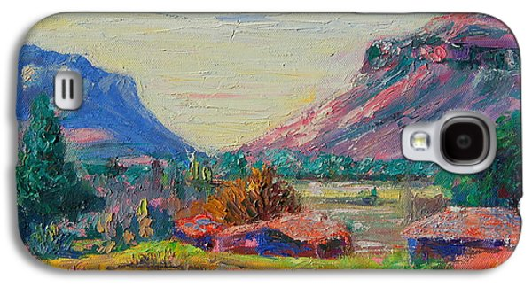 Clarence Paintings Galaxy S4 Cases - Clarence Mountain Free State South Africa Galaxy S4 Case by Thomas Bertram POOLE