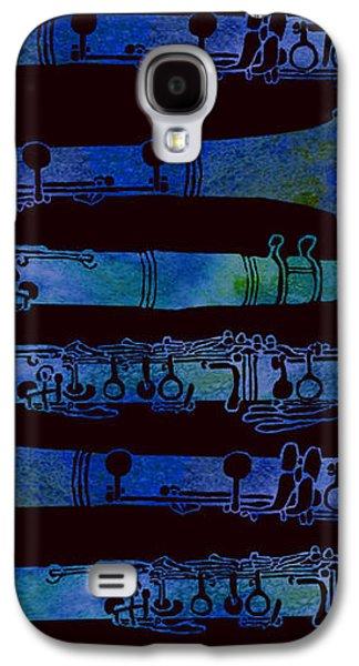 Green Galaxy S4 Cases - Clarinet Keys Galaxy S4 Case by Jenny Armitage