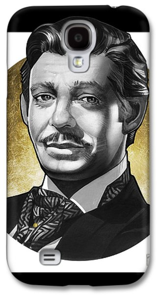 Archetype Paintings Galaxy S4 Cases - Clark Gable Galaxy S4 Case by T M Rhyno