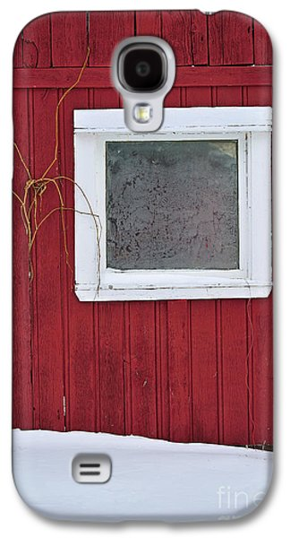 Red Barn In Winter Photographs Galaxy S4 Cases - Classic Canada Galaxy S4 Case by Joshua McCullough