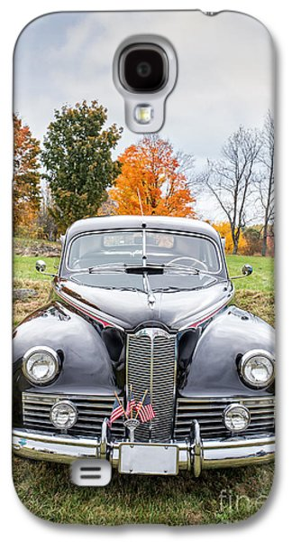 Auto Photographs Galaxy S4 Cases - Classic Car in Autumn Farm Field Galaxy S4 Case by Edward Fielding