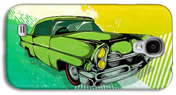 Digital Galaxy S4 Cases - Classic Cars 04 Galaxy S4 Case by Bedros Awak