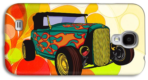 Abstract Digital Mixed Media Galaxy S4 Cases - Classic Cars 09 Galaxy S4 Case by Bedros Awak