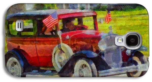 Stars And Stripes Mixed Media Galaxy S4 Cases - Classic Cars American Tradition Galaxy S4 Case by Dan Sproul