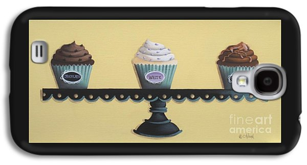 Catherine White Paintings Galaxy S4 Cases - Classic Cupcakes Galaxy S4 Case by Catherine Holman