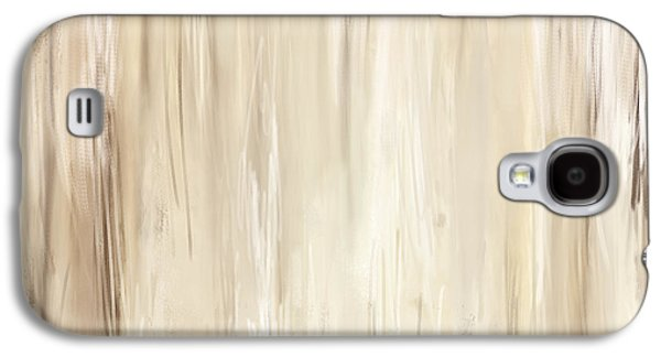Beige Abstract Galaxy S4 Cases - Classic Essence - Distressed Art Galaxy S4 Case by Lourry Legarde