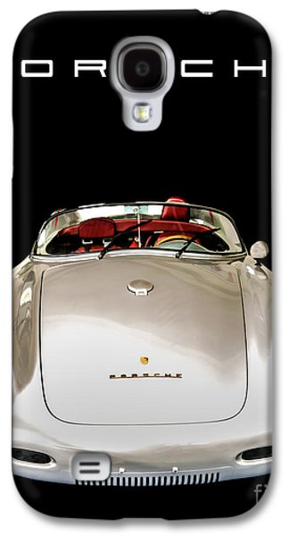 Business Galaxy S4 Cases - Classic Porsche Silver Convertible Sports Car Galaxy S4 Case by Edward Fielding