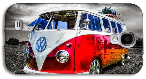 Californian Galaxy S4 Cases - Classic red VW Campavan Galaxy S4 Case by Ian Hufton