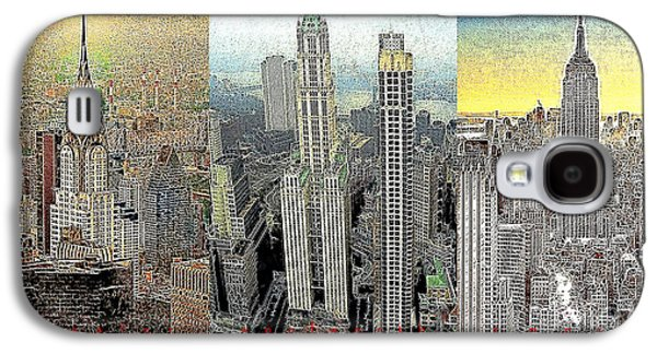 Manhatten Galaxy S4 Cases - Classic Skyscrapers of America 20130428 Galaxy S4 Case by Wingsdomain Art and Photography