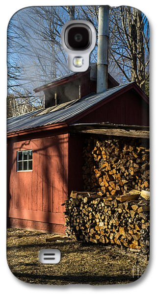 Sheds Galaxy S4 Cases - Classic Vermont Maple Sugar Shack Galaxy S4 Case by Edward Fielding