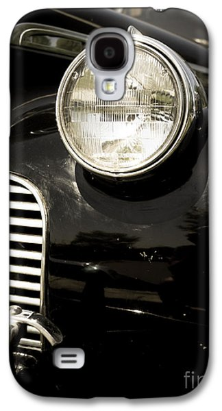Antique Automobiles Galaxy S4 Cases - Classic Vintage Car Black and White Galaxy S4 Case by Edward Fielding