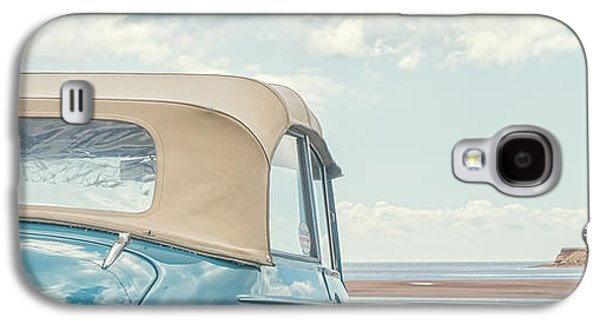 Studio Photographs Galaxy S4 Cases - Classic Vintage Morris Minor 1000 Convertible at the beach Galaxy S4 Case by Edward Fielding