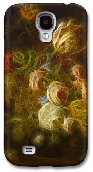 Floral Digital Digital Galaxy S4 Cases - Classica Modern - m01 Galaxy S4 Case by Variance Collections