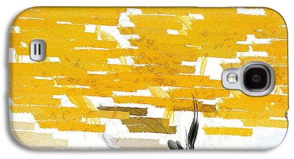 Classy Yellow Tree Galaxy S4 Case by Lourry Legarde