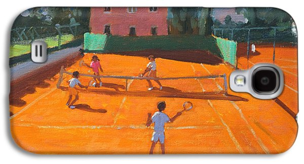 Volley Galaxy S4 Cases - Clay Court Tennis Galaxy S4 Case by Andrew Macara