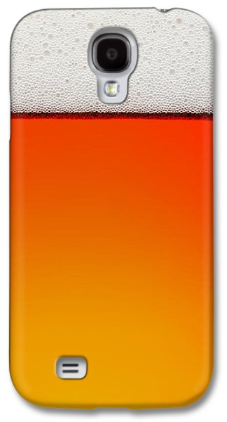 Drink Photographs Galaxy S4 Cases - Clean Beer Background Galaxy S4 Case by Johan Swanepoel