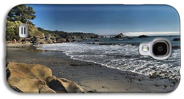 Foggy Beach Galaxy S4 Cases - Clear At Trinidad Galaxy S4 Case by Adam Jewell