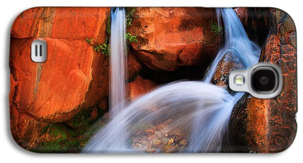 Splashy Galaxy S4 Cases - Clear Creek Falls Galaxy S4 Case by Inge Johnsson