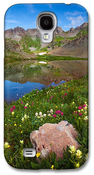Landscape Acrylic Prints Galaxy S4 Cases - Clear Lake Morning Galaxy S4 Case by Darren  White