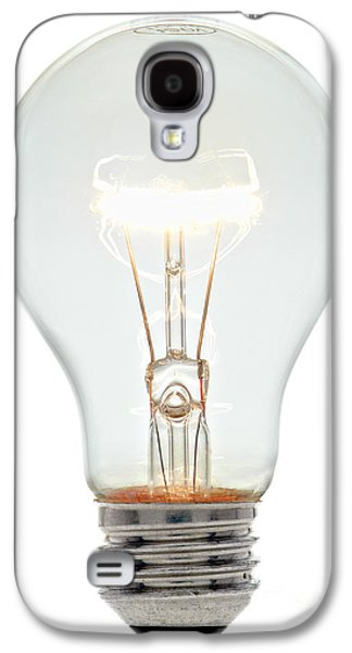Bulb Galaxy S4 Cases - Clear Light Bulb Galaxy S4 Case by Olivier Le Queinec