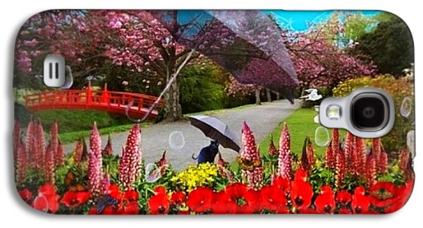 Garden Scene Mixed Media Galaxy S4 Cases - Clearing Showers Galaxy S4 Case by Nancy Pauling