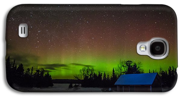 Bwcaw Galaxy S4 Cases - Clearwater Lake Aurora Galaxy S4 Case by David Johnson