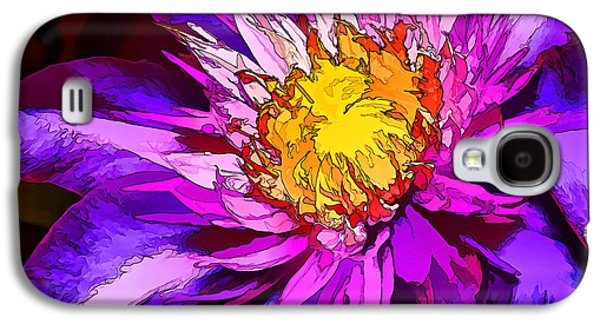 Photo Manipulation Galaxy S4 Cases - Clematis Flower in Blue Galaxy S4 Case by Bill Caldwell -        ABeautifulSky Photography