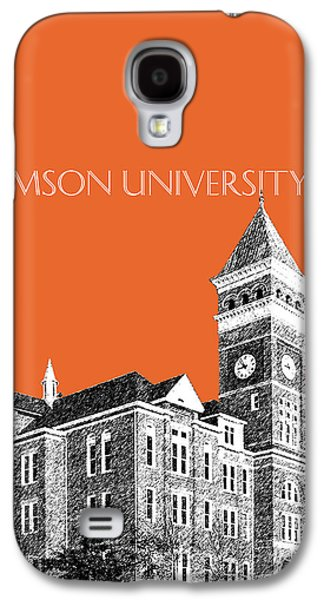 Universities Digital Art Galaxy S4 Cases - Clemson University - Coral Galaxy S4 Case by DB Artist