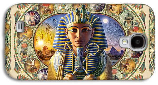 Ancient Galaxy S4 Cases - Cleo Tut Neffi Triptych Galaxy S4 Case by Andrew Farley