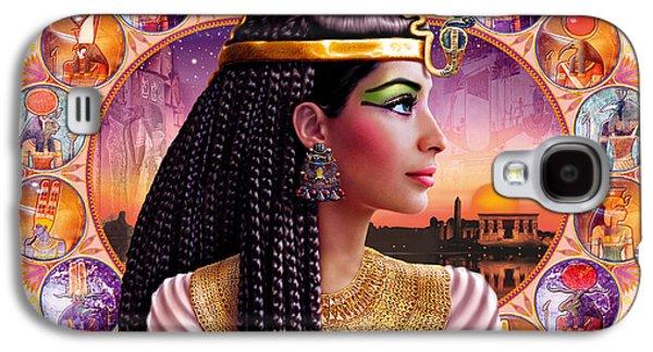 Pharaoh Galaxy S4 Cases - Cleopatra Variant 3 Galaxy S4 Case by Andrew Farley