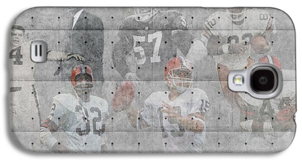 Offense Galaxy S4 Cases - Cleveland Browns Legends Galaxy S4 Case by Joe Hamilton