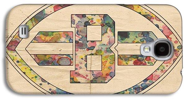 Cleveland Browns Logo Art Galaxy S4 Case by Florian Rodarte