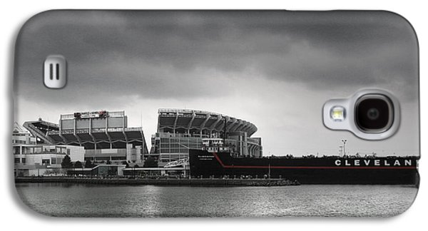 Football Photographs Galaxy S4 Cases - Cleveland Browns Stadium From The Inner Harbor Galaxy S4 Case by Kenneth Krolikowski