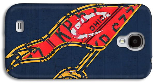 Nba Mixed Media Galaxy S4 Cases - Cleveland Cavaliers NBA Team Retro Logo Vintage Recycled License Plate Art Galaxy S4 Case by Design Turnpike