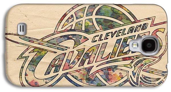 Slam Galaxy S4 Cases - Cleveland Cavaliers Poster Art Galaxy S4 Case by Florian Rodarte