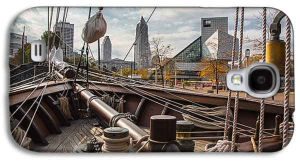 Historic Ship Galaxy S4 Cases - Cleveland From The Deck Of The Peacemaker Galaxy S4 Case by Dale Kincaid