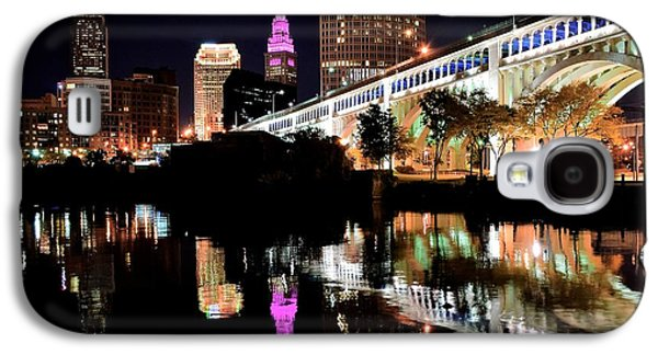 Veterans Stadium Galaxy S4 Cases - Cleveland Ohio Reflects Galaxy S4 Case by Frozen in Time Fine Art Photography
