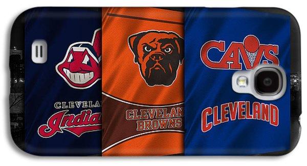 Mlb Galaxy S4 Cases - Cleveland Sports Teams Galaxy S4 Case by Joe Hamilton