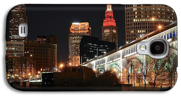 Veterans Stadium Galaxy S4 Cases - Cleveland Up Close Galaxy S4 Case by Frozen in Time Fine Art Photography